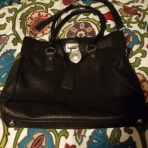Michael Kors large black leather purse
